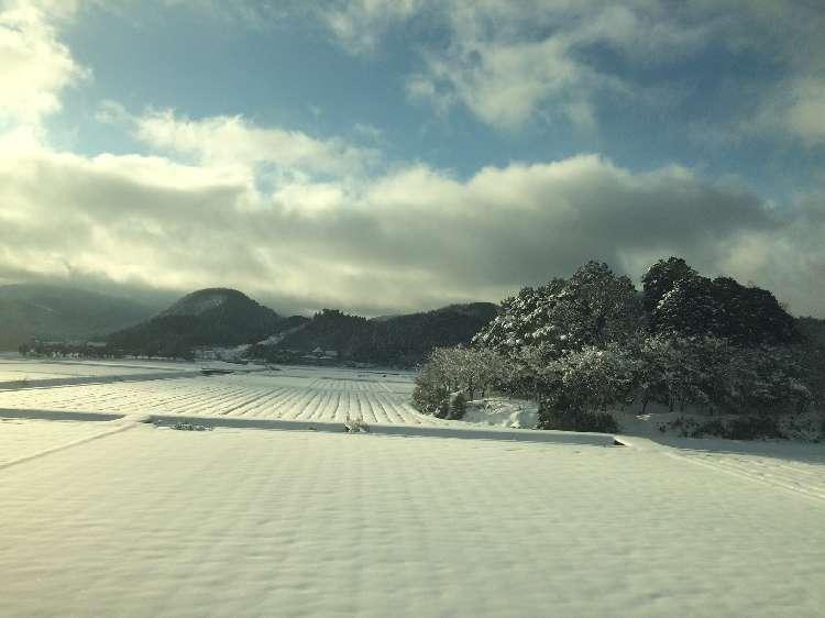 名古屋〜京都間の雪景色