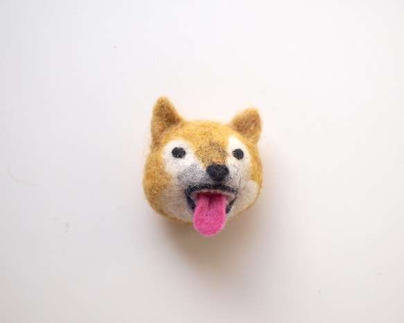 woonimalブローチ【柴犬・舌】