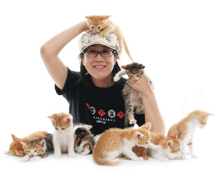 ねこカレンダーの撮影やねこ写真集の発刊など、「ねこ写真家」として活躍する中山祥代さん