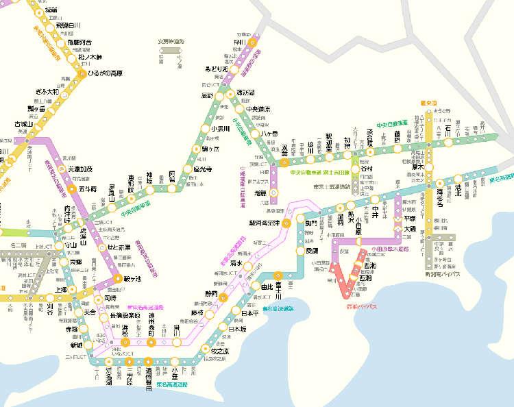 《中日本編》高速道路MAP