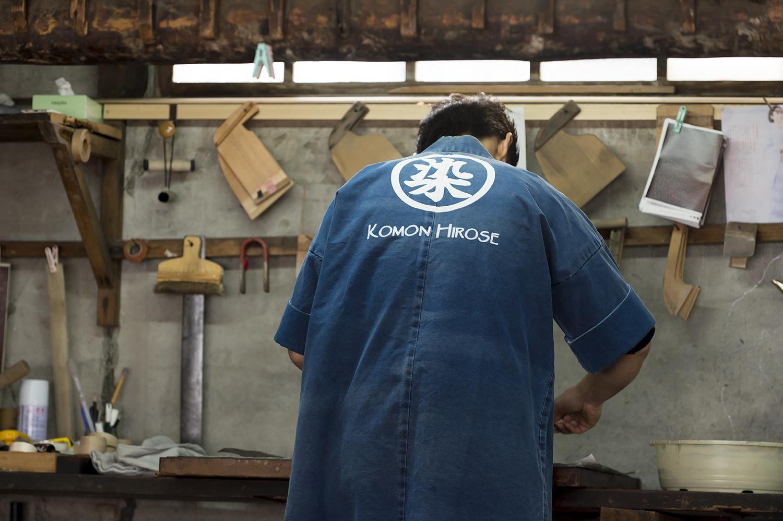 染工場、つまり布を染めていく工場。