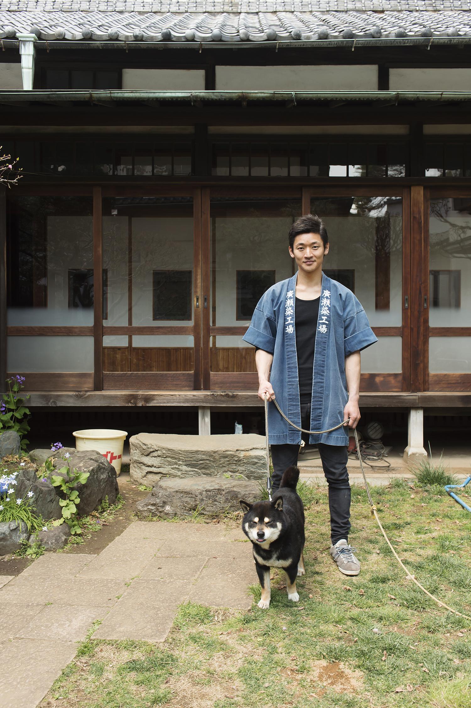 「コモンがいるからリラックスできる」と廣瀬さん。伝統の江戸小紋を、コモンも支えているのである。