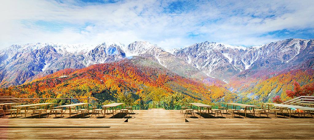 白馬岩岳に新施設誕生!ペットと大自然が楽しめる絶景テラスへ!