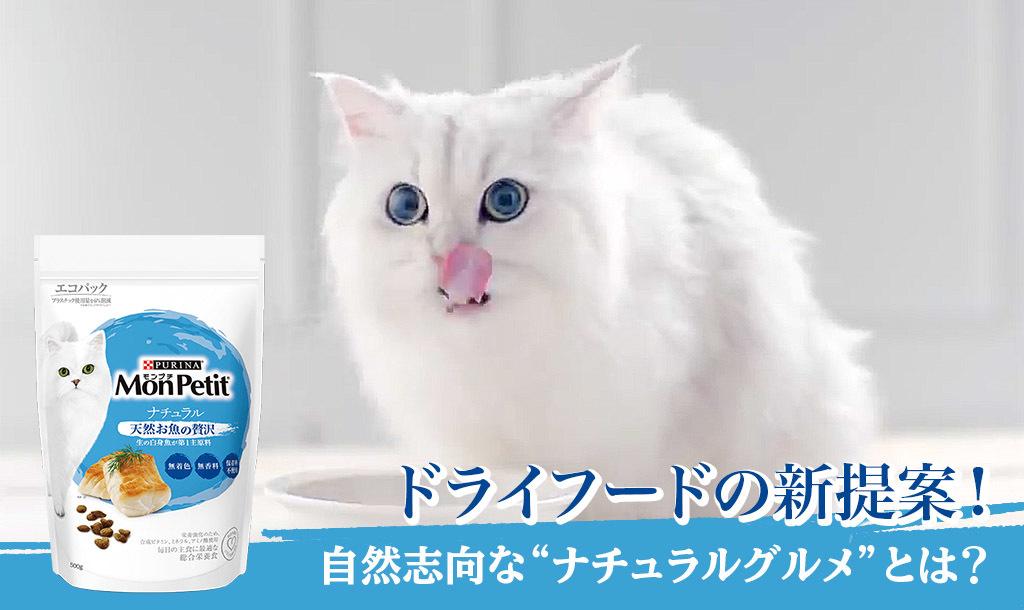 """ネコちゃんへ""""自然の美味しさ""""と""""身体に優しさ""""を。""""ナチュラルグルメ""""という新しい主食フードの提案"""