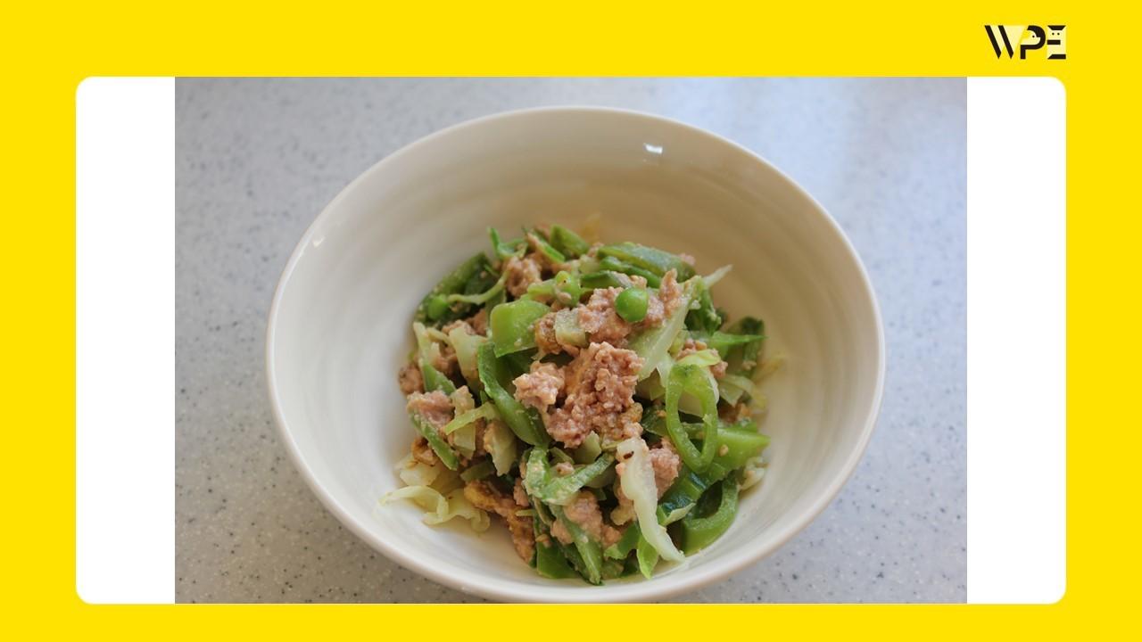 季節の野菜を使ったレシピ「春キャベツのナムル」