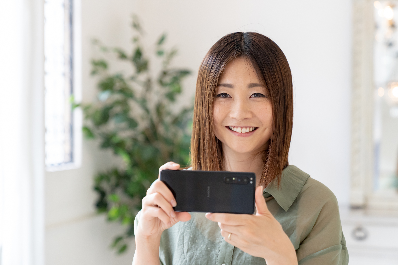 小川晃代さんはXperiaのアンバサダーです。