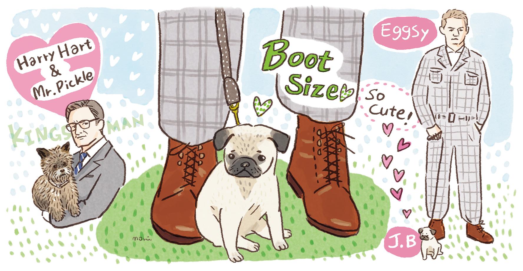 ブーツサイズのJ.Bは、愛らしくて出てくるたびにほのぼのした気持ちに。ハリーの愛犬ミスターピックルはつぶらな瞳がキュート!