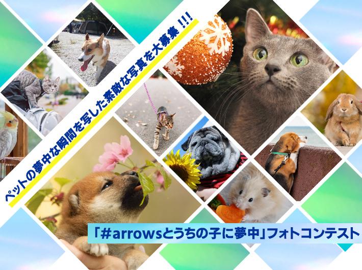 「#arrowsとうちの子に夢中」フォトコンテストを開催!