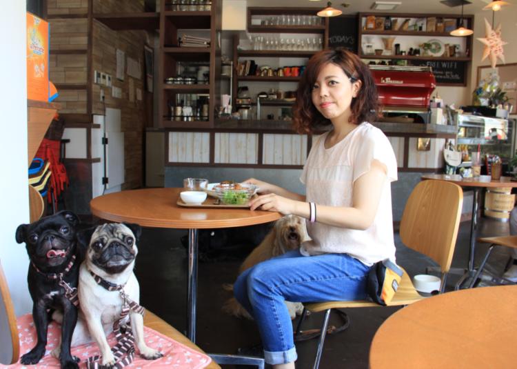 【花梅トライ! トライ!!】人と犬の憩いの場、ドッグカフェへ。楽しい時間を過ごすためのマナーとは?