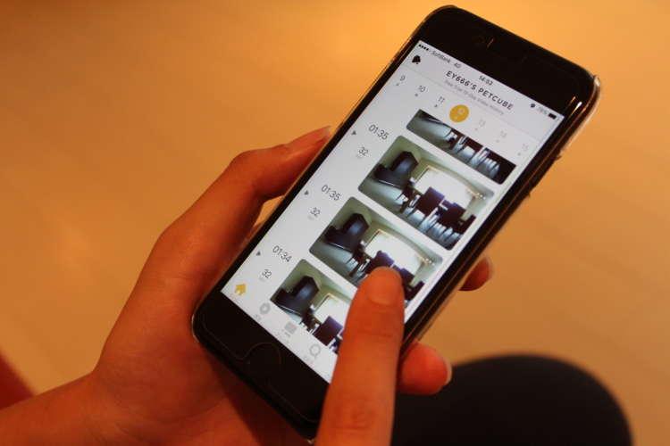スマートフォンで自動録画された映像をチェック!