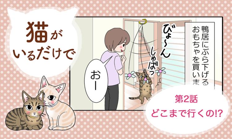 【まんが】第2話:【どこまで行くの!?】まんが描き下ろし連載♪ 猫がいるだけで(著者:暁龍)
