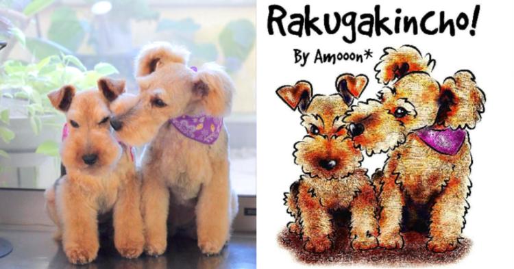 愛犬や友だちのワンコを描いたイラスト。どの子も「そっくりで可愛い!」と話題に…♡