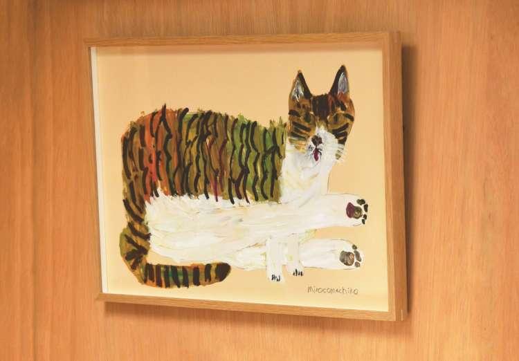 一時保護していた迷子猫の「いこちゃん」こと「チョビちゃん」を描いた作品