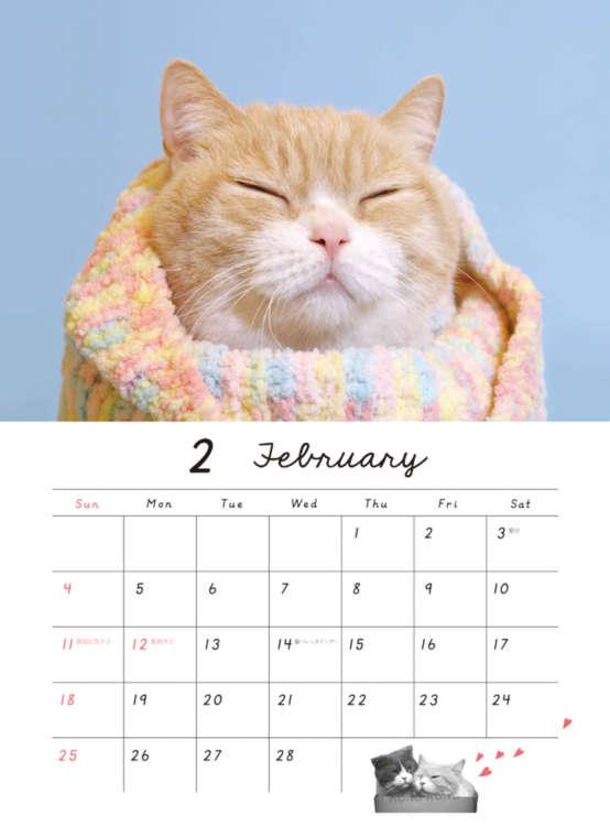 2018年の壁掛けカレンダー(学研ステイフル)