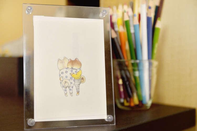 「ここ柴」のキャラクター、パンツインちゃん。西田さんが小学生の頃からこのキャラクターを描いていたというから驚き。最近では、自身のことでもある30代女子のあるあるをパンツインちゃんで描いている。