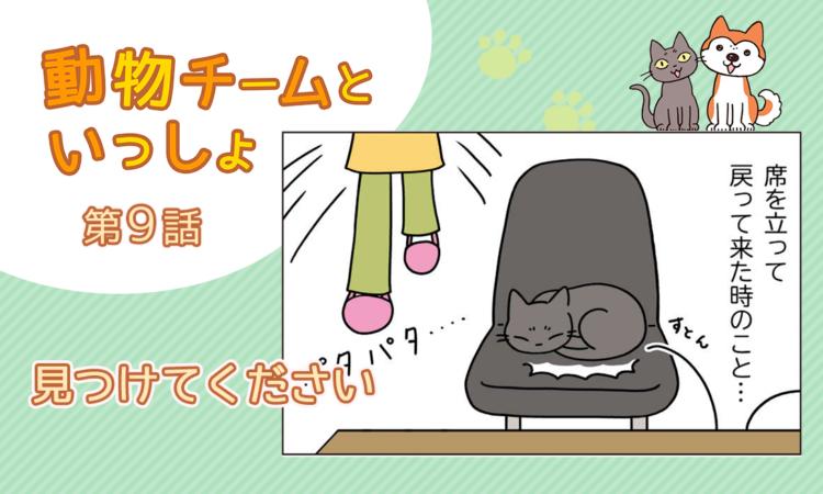 【まんが】第9話:【見つけてください】描き下ろし漫画♪「動物チームといっしょ」(著者:月田エミ)