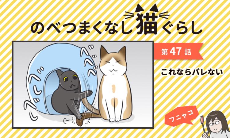 【まんが】第47話:【これならバレない】まんが描き下ろし連載♪ のべつまくなし猫ぐらし