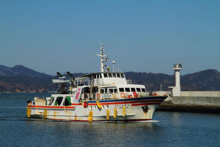 田代島に向かうフェリーは1日3便、日帰りなら9時発の朝イチ便がおすすめです。