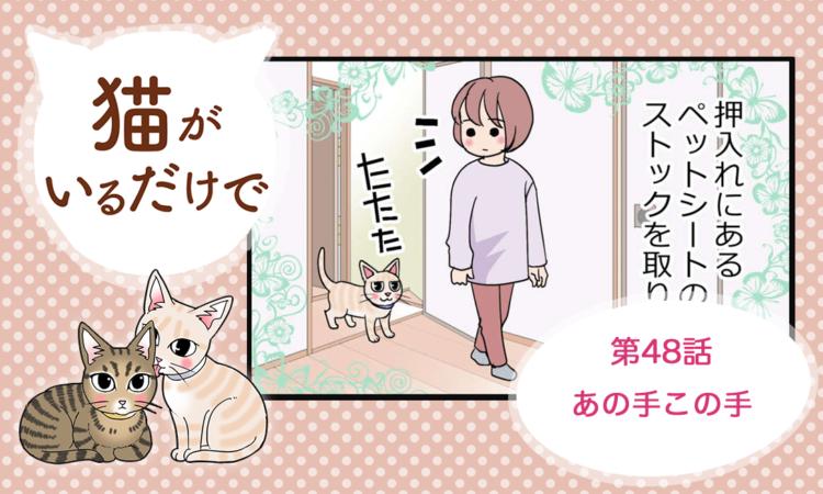 【まんが】第48話:【あの手この手】まんが描き下ろし連載♪ 猫がいるだけで(著者:暁龍)