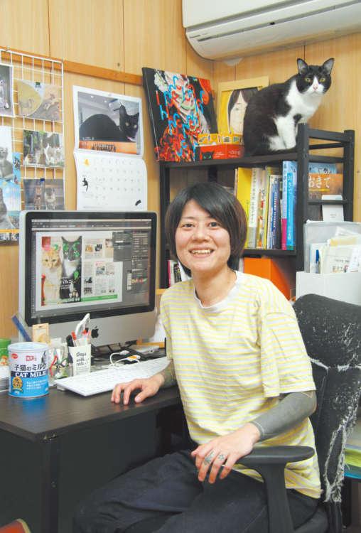 13年前、大阪で保護した猫・にゃん太も応援。ここで『つなぐマガジン』が生まれる
