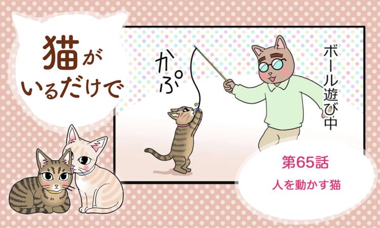 【まんが】第65話:【人を動かす猫】まんが描き下ろし連載♪ 猫がいるだけで(著者:暁龍)