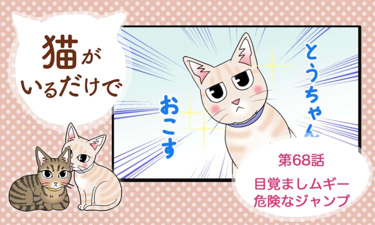 【まんが】第68話:【目覚ましムギー危険なジャンプ】まんが描き下ろし連載♪ 猫がいるだけで