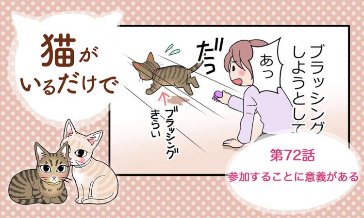 【まんが】第72話:【参加することに意義がある】まんが描き下ろし連載♪ 猫がいるだけで(著者:暁龍)