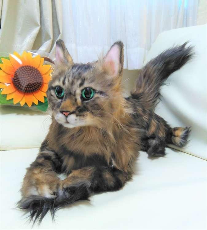 猫 ネコ 長毛猫 ひまわり オーダーメイドぬいぐるみ