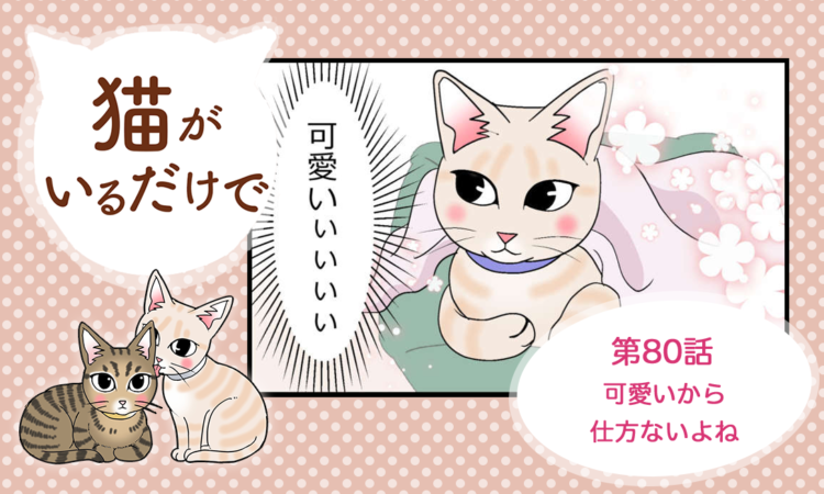 【まんが】第80話:【可愛いから仕方ないよね】まんが描き下ろし連載♪ 猫がいるだけで(著者:暁龍)