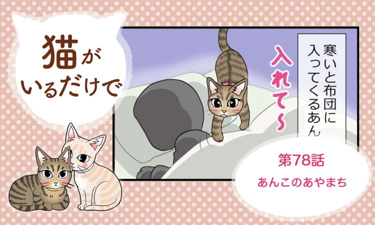 【まんが】第78話:【あんこのあやまち】まんが描き下ろし連載♪ 猫がいるだけで(著者:暁龍)