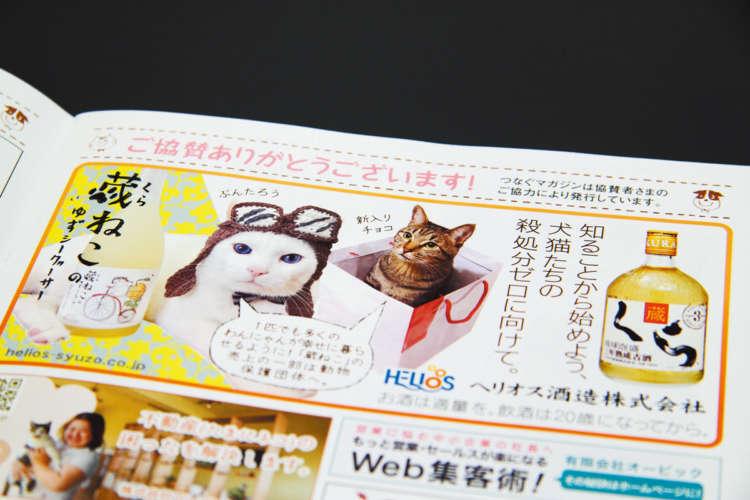 沖縄の動物愛護啓発冊子の広告欄にも登場