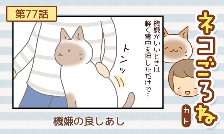 【まんが】第77話:【機嫌の良しあし】描き下ろし連載♪ ネコごろね(著者:カト)