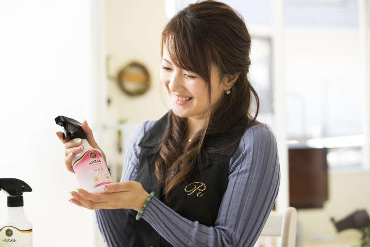 浦村さんは「フローラルフレッシュ」のやさしい香りがお気に入りだそう。