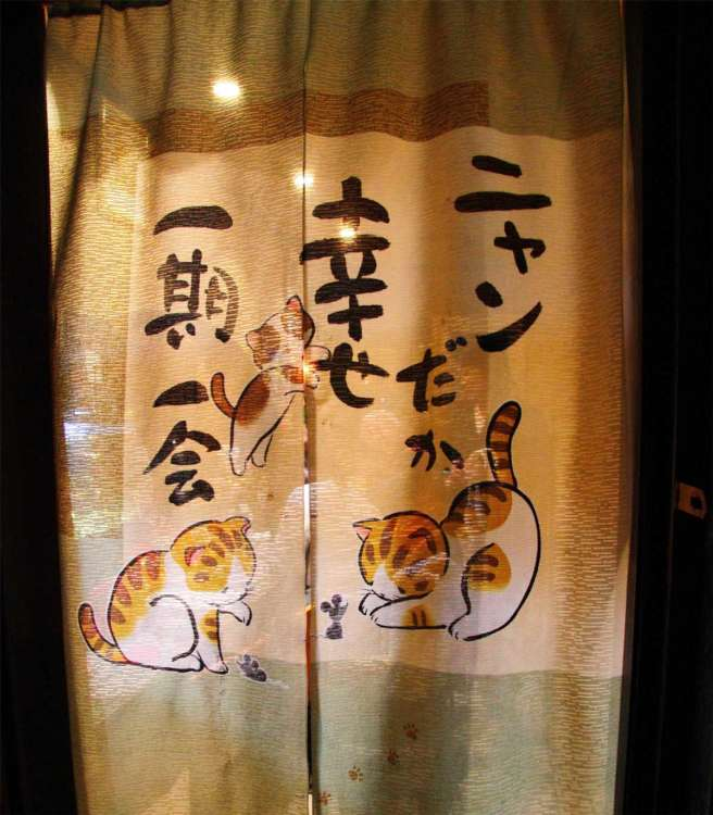 勇気を出してドアを開けると猫暖簾