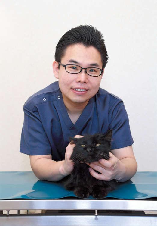 やさしい笑顔の亀田先生とジロー
