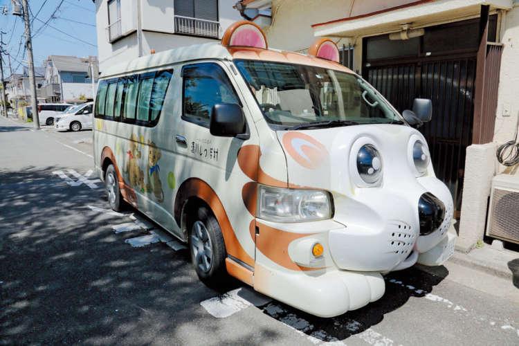 清川しっぽ村の猫型バス