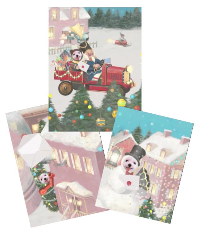 クリスマスムービーカードは3タイプ。好きなものを選んで!