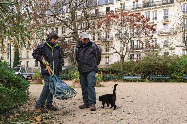 犬の散歩が禁止されていることも多く安全で、公園の管理人さんたちとも仲良し