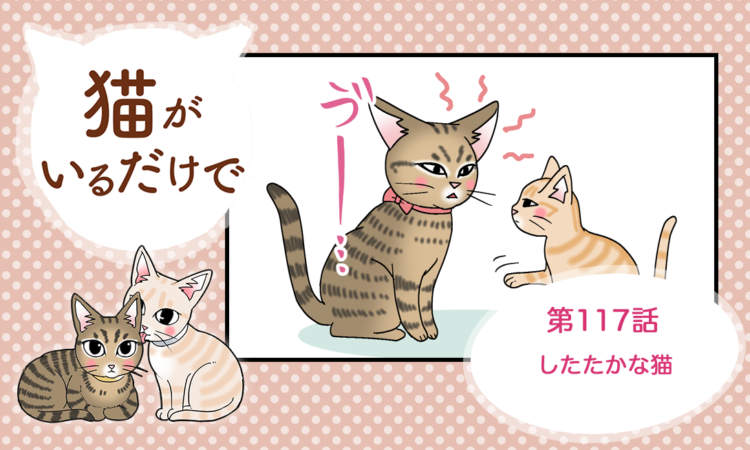 【まんが】第117話:【したたかな猫】まんが描き下ろし連載♪ 猫がいるだけで(著者:暁龍)