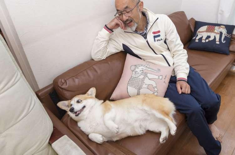 「このソファはパパと私だけのものだよね~」そんな心の声が聞こえそう。