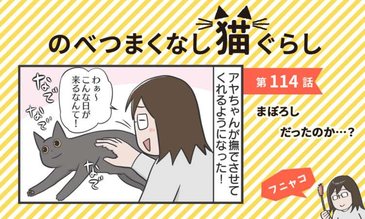 【まんが】第114話:【まぼろしだったのか…?】まんが描き下ろし連載♪ のべつまくなし猫ぐらし