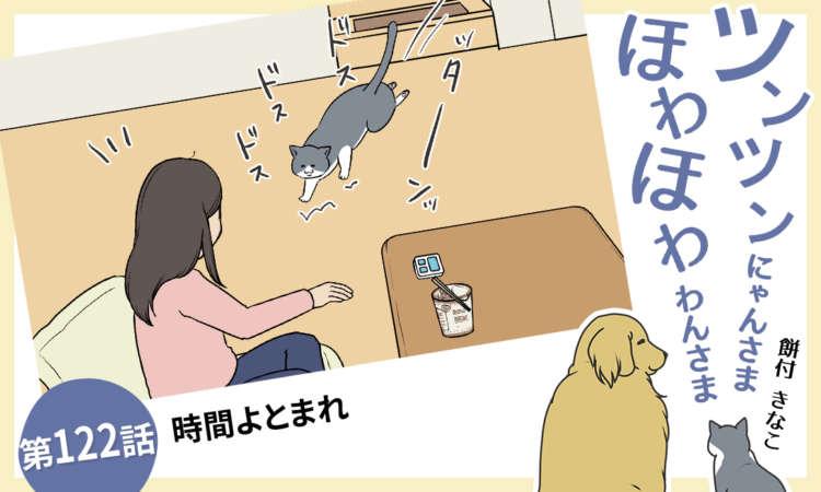 【まんが】第122話:【時間よとまれ】まんが描き下ろし連載♪ ツンツンにゃんさま ほわほわわんさま