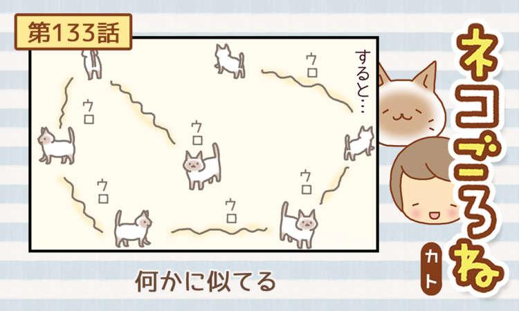 【まんが】第133話:【何かに似てる】まんが描き下ろし連載♪ ネコごろね(著者:カト)
