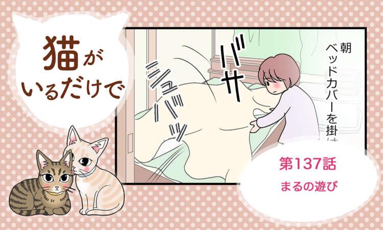 【まんが】第137話:【まるの遊び】 まんが描き下ろし連載♪ 猫がいるだけで(著者:暁龍)