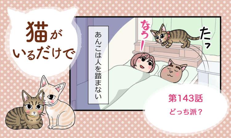 【まんが】第143話:【どっち派?】まんが描き下ろし連載♪ 猫がいるだけで(著者:暁龍)