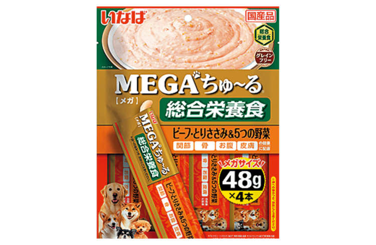 MEGAちゅ~る 総合栄養食 ビーフ・とりささみ&5つの野菜