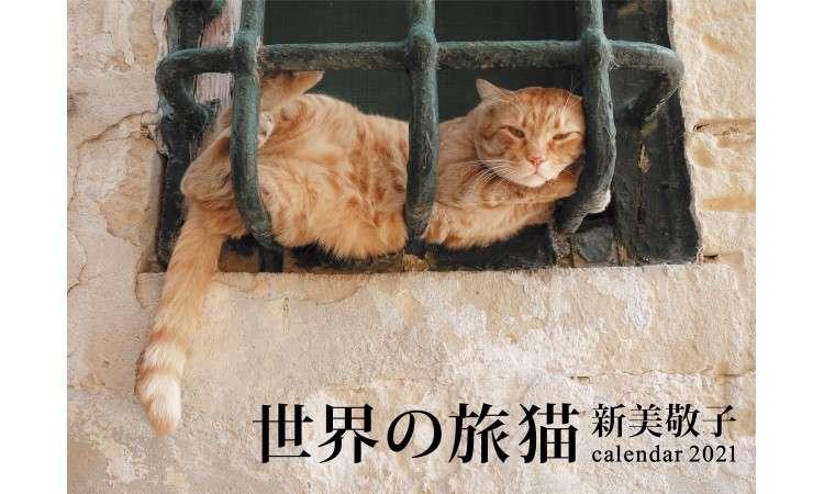 世界旅行気分を味わえそう!異国情緒あふれる『世界の旅猫カレンダー2021』で旅気分♪