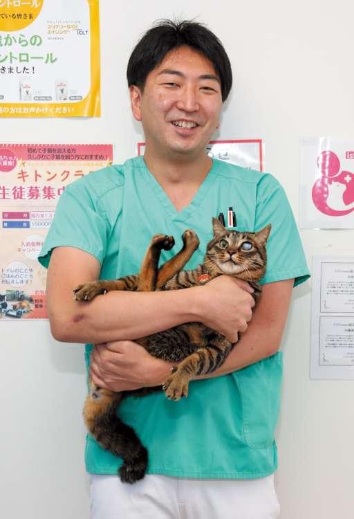 本池先生と病院猫のくまお