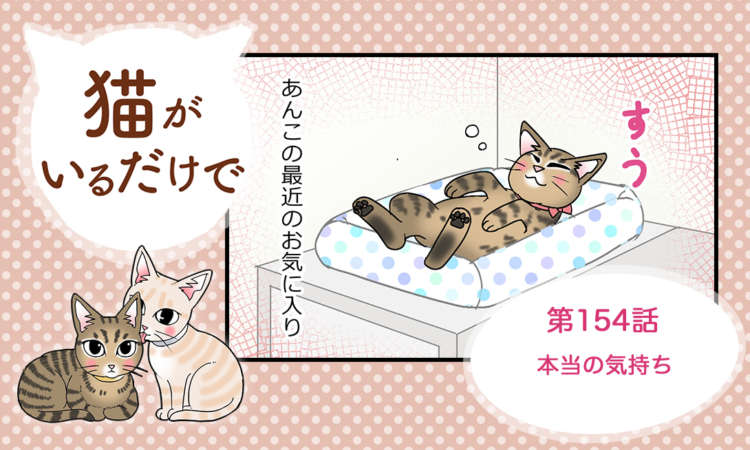 【まんが】第154話:【本当の気持ち】まんが描き下ろし連載♪ 猫がいるだけで(著者:暁龍)