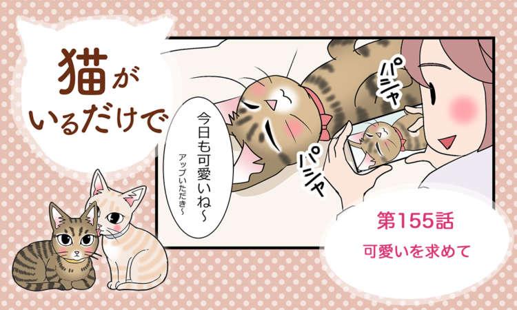 【まんが】第155話:【可愛いを求めて】まんが描き下ろし連載♪ 猫がいるだけで(著者:暁龍)
